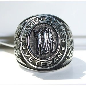 Other - STAINLESS STEEL United States Veteran Epoxy Ring